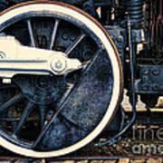 Vintage Drive Wheel Art Print by Olivier Le Queinec