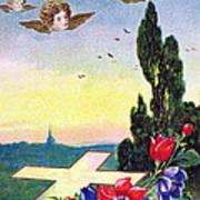 Vintage Easter Card Art Print