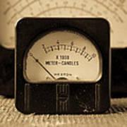 Vintage Electrical Meters Art Print