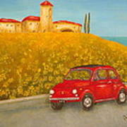 Vintage Fiat 500 Art Print