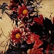 Vintage Floral Beauty  Art Print