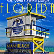 Vintage Florida Travel Style Artwork Art Print