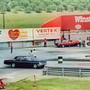 Vintage Ford Drag Racing Art Print