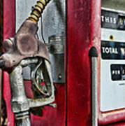 Vintage Gas Pump Art Print