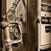 Vintage Gas Pump Showing Its Age Art Print