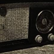 Vintage Ge Radio Art Print