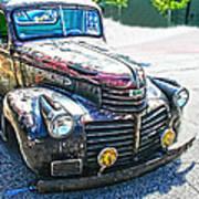 Vintage Gm Truck Frontal Hdr Art Print