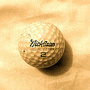 Vintage Golf Ball Art Print
