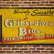 Vintage Griesedieck Bros Beer Dsc07192 Art Print