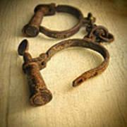 Vintage Handcuffs Art Print