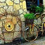 Antique Store Hay Rake And Bicycle Art Print