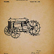 Vintage Henry Ford Tractor Patent Art Print
