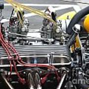 Vintage Hotrod Engine Art Print