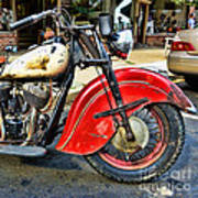 Vintage Indian Motorcycle - Live To Ride Art Print