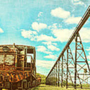 Vintage Industrial Postcard Art Print