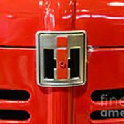 Vintage International Harvester Tractor Badge Art Print