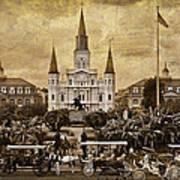 Vintage Jackson Square Art Print