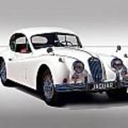 Vintage Jaguar Coupe Art Print