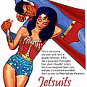 Vintage Jetsuit Advertisement Art Print