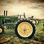 Vintage John Deere Tractors Art Print