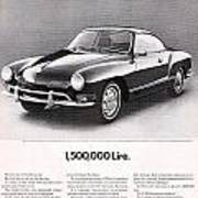 Vintage Karmann Ghia Advert Art Print