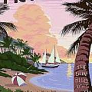 Vintage Key West Travel Poster Art Print