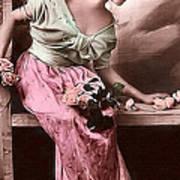 Vintage Lady Rose  Limited Sizes Art Print