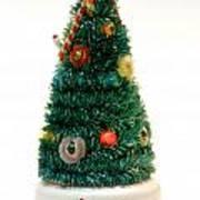 Vintage Lighted Christmas Tree Decoration Art Print