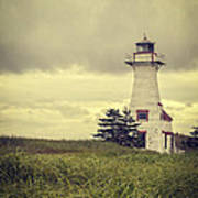 Vintage Lighthouse Pei Print by Edward Fielding