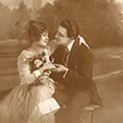Vintage Lovers Art Print