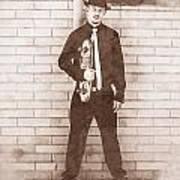 Vintage Male Skateboarder Art Print