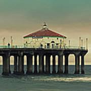 Vintage Manhattan Beach Pier Art Print