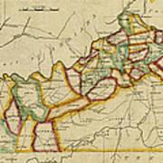 Map Of Kentucky 1812 Art Print