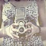 Vintage Medium Format Camera Art Print