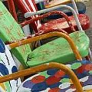 Vintage Metal Outdoor Chairs Art Print