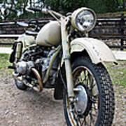 Vintage Military Motorcycle Art Print