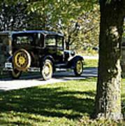 Vintage Moments Ford Tudor Model A Art Print