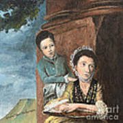 Vintage Mother And Son Art Print