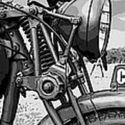 Vintage Motorcycle Art Print