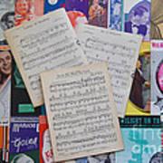 Vintage Music Sheets No.2 Art Print