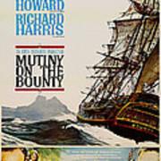 Vintage Mutiny On The Bounty Movie Poster 1962 Art Print