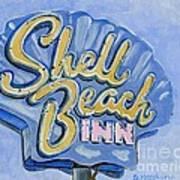 Vintage Neon- Shell Beach Inn Art Print