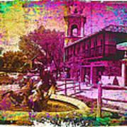 Vintage Neptune Fountain Kansas City Art Print