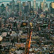 Vintage New York Skyline Art Print