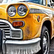 Vintage Nyc Taxi Art Print by John Farnan