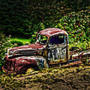 Vintage Old Forty's Pickup Art Print
