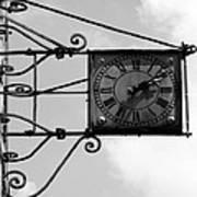 Vintage Paris Clock 2 Art Print
