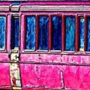 Vintage Passenger Carriage Art Print