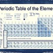 Vintage Periodic Table Of The Elements Art Print by Dan Sproul