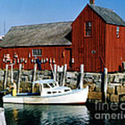 Fishing In Rockport Maine 1970's Art Print